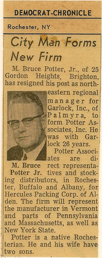 Potter News Article 1964